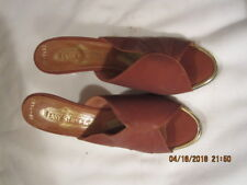 Preowned Vintage Women's Easy Street Brown Leather Shoes Size 6 1/2 to 7