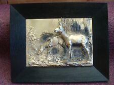 German Silver Wall Plaque/Sculpture 3D High Relief Buck & Doe LQQK!!