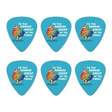 Rainbow Sheep of the Family Gay Pride Novelty Guitar Picks Medium - Set of 6