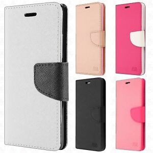 Alcatel Revvl 2 Plus Premium Leather Wallet Pouch Flip Cover +Screen Protector