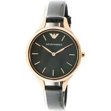 SPECIAL SALE!! Emporio Armani Women's Aurora AR11056 Rose-Gold Leather Watch
