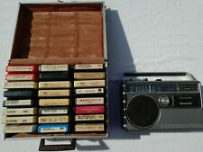 Portable Panasonic Model Rq-831A 8 Track Player with 24 Tapes