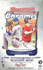 2012 Bowman Chrome Baseball Sealed Hobby Box