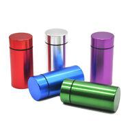 1 X Aluminum Airtight Bottle Water Proof Case Stash Box Container Storage Jar