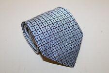 Jos A. Bank Designer Neck Tie Blues Silver Geometric 100% Silk 59L 4W USA Made