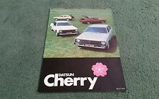 DATSUN CHERRY COUPE HATCHBACK ESTATE May 1979 UK BROCHURE Carnell Doncaster