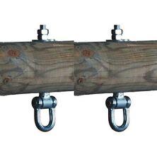 TWO HEAVY DUTY METAL SWING HOOK HANGERS M12 140mm FOR GARDEN CLIMBING FRAME