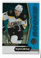 2018-19 Upper Deck Synergy Hockey Blue Parallel /599 Ryan Donato Boston Bruins
