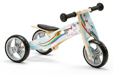 Nicko NIC814 Unicorn Girls Convertible Wooden Balance Bike Toddler Trike 18m+