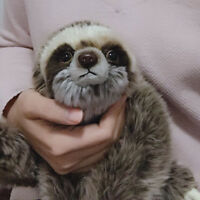 Cute Sloth Bradypod Plush Doll Wild Animal Stuffed Toy Kid Gift 35cm