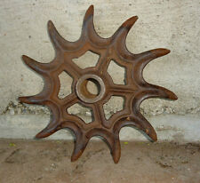 "Antique Cast Iron Rotary Wheel Hoe Farm Cultivator 16""CALKINS Steampunk Machine"