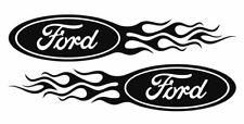 2x #Ford Flame Style Logo Right & Left car decal stickers
