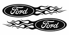 2x Ford Flame Style Logo Right & Left car decal stickers