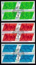 BRD 1980  MiNr. 1046-1048   im 4er Block mit ABO Stempel Frankfurt  siehe Bild