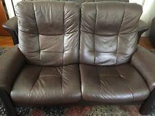 Ekornes Stressless Buckingham Love Seat  Premium Chocolate Paloma leather