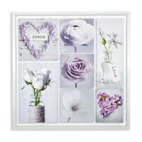 Inspirations Pretty Floral Flower Montage Printed Framed Wall Art Picture