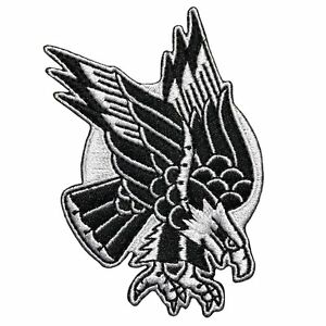 Hourless 2D Embroidered Patch EAGLE Design Traditional Tattoo
