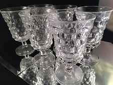 SET of 6 VINTAGE FOSTORIA AMERICA STEMMED WATER GLASSES GOBLETS