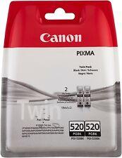 Canon Pixma MP560 MP620 MP620B Genuine Black Ink Cartridges PGI-520BK