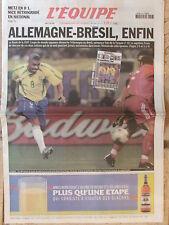 L'Equipe du 27/6/2002 - Coupe du monde de football : une finale Allemagne-Brésil