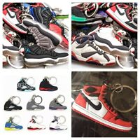 Lot of 50 Nike Air Jordan, Yeezy, Lebron, Curry Shoe Keychains - Random Picks!