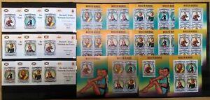 BU IMPERF,PERF 2013 BURUNDI FAMOUS PEOPLE CINEMA MARILYN MONROE 12BL+12KB MNH