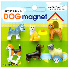 MIDORI Japanese Mini Magnet Deluxe Set - Dogs ( 6 pieces )