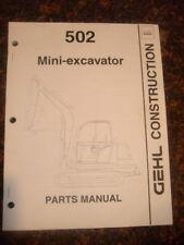 Gehl 502 Mini Excavator Parts Manual