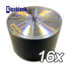 100 DVD+R 16x SILVER SHINY TOP No Stacking Ring New
