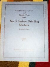Brown&Sharpe Operator Manual~Parts~#5 Grinding Machine