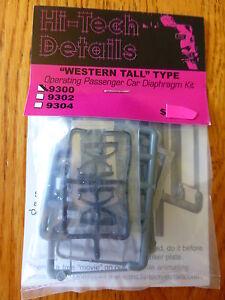 Hi-Tech Details HO #9300 Western Tall Diaphragms 1 Pair -- Neutral Gray