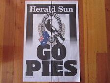 HERALD SUN COLLINGWOOD GO PIES 2011 AFL NEWSPAPER POSTER