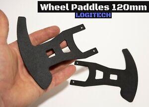 """Wheel Paddles for Logitech G25/27/29/920 """"BLACK MATTE"""" 120мм / SIMRACING"""