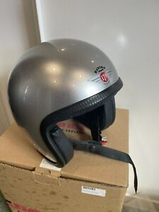 Davida Speedster v3 Motorcycle helmet M Silver black leather liner