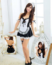 Sexy Women Halloween Costume Cosplay French Maid Lingerie Outfit Fancy Dress New