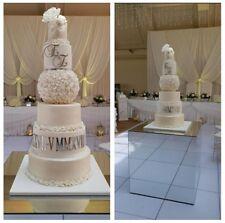 Roman numerals cake topper wedding mirror gold initials