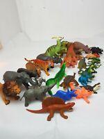 Mixed BUNDLE Of vintage Carnegi Safari DINOSAURS PLASTIC  Animal FIGURES Toys