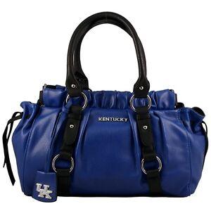 Vegan Leather Trim and Tassels Kentucky Wildcats Clear Handbag//Purse with Logo
