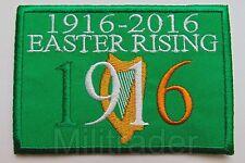 Irish Ireland Easter Rising Anniversary (1916-2016) Patch (Gold Harp)