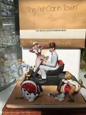 """Norman Rockwell """"The First Car In Town� 1985 Special Edition Museum Piece"""