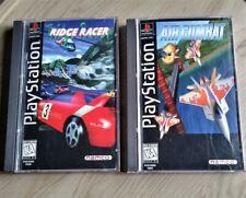 Air Combat & Ridge Racer Sony Playstation - PS1 Speed Bundle Long Box CIB