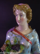 Antique déesse avec Raisins-porcelaine figurine de 1900-KPM