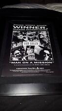 Van Halen Man On A Mission Rare Original Radio Promo Poster Ad Framed!