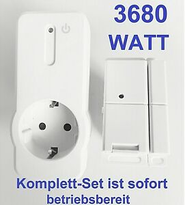 Funk Abluftsteuerung SET 3680W Fensterkontaktschalter kabellos Dunstabzug Kamin