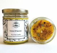 Crown of Success Soy Spell Candle Prosperity Achievement Hoodoo Wiccan Pagan