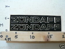 STICKER,DECAL VINTAGE ZUNDAPP LARGE TEXT LETTERS NOT 100 % OK
