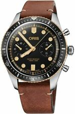 New Oris Divers Sixty-Five 77177444354LS Chronograph Black Dial Men's Watch