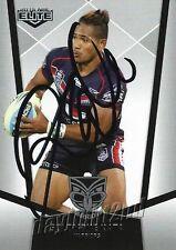 ✺Signed✺ 2015 NEW ZEALAND WARRIORS NRL Card SOLOMONE KATA