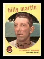 1959 Topps Set Break # 295 Billy Martin VG-EX *OBGcards*