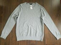 NEW MK Michael Kors Heather Gray Crew Neck Sweater Size XL